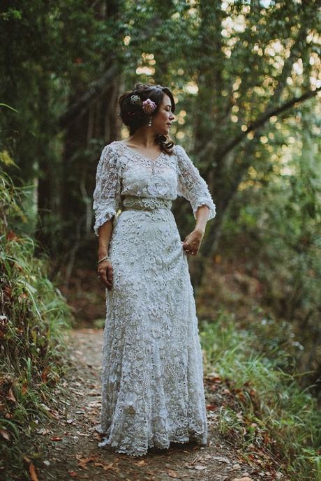 Vestidos de novia hechos a crochet