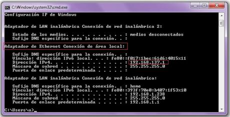 Internet en la raspberry desde el PC