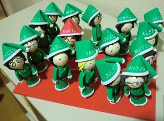 Fofuchas para lápices de Navidad