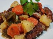 Salchichas verduras Slow Cooker