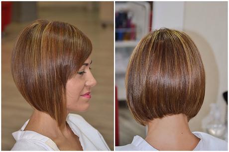 Short bob hair with side bangs