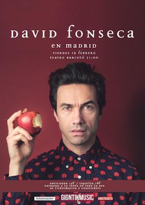 David Fonseca el 19 de febrero en el Teatro Barceló de Madrid