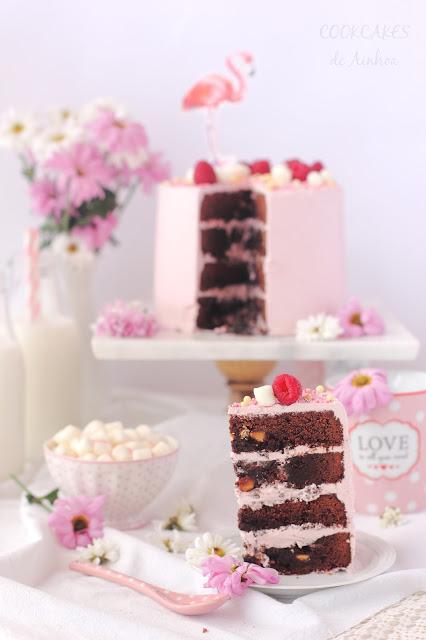 LAYER CAKE DE BROWNIE Y FRAMBUESA