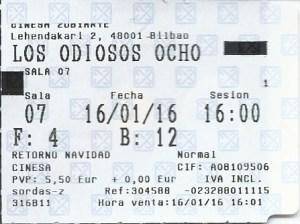 "Los odiosos ocho (""The hateful eight"") (3.5)"