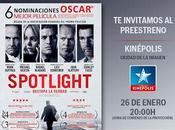 "Sorteo entrada doble Preestreno ""Spotlight"""
