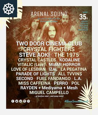 Arenal Sound 2016 confirma a Crystal Fighters y Steve Aoki