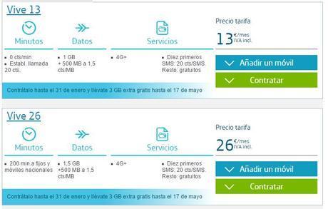 Por tiempo limitado, y para nuevos clientes, Movistar mejora con datos sus tarifas Vive