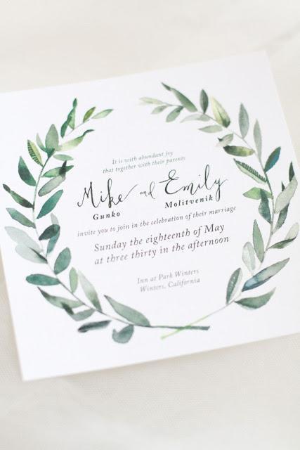 invitacion boda olivo