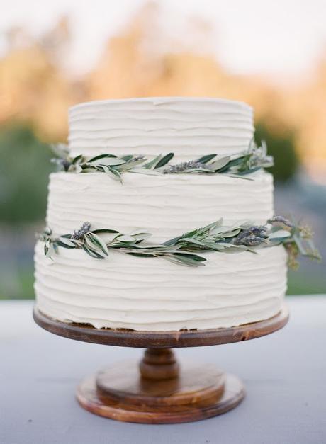pastel boda decorado olivo