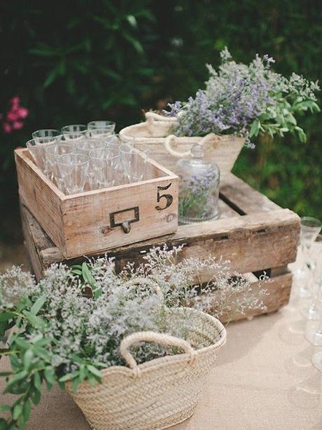 deco olivo vintage boda