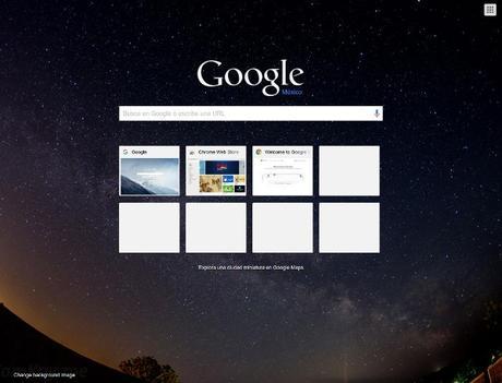 Google Custom Background