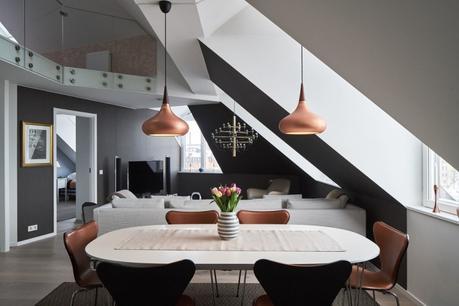 serie 7 arne jacobsen Orient Lightyears diseño danés diseño con cobre decoración blanco negro cobre decoración áticos dúplex cocinas modernas marmol clásicos daneses blog decoración nórdica ático diáfano
