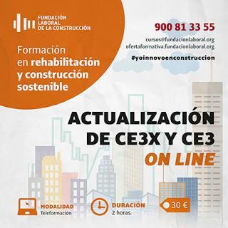 Acción formativa On Line sobre la actualización CE3X y CE3
