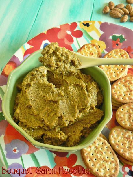 Paté de aceitunas y hongos Portobello