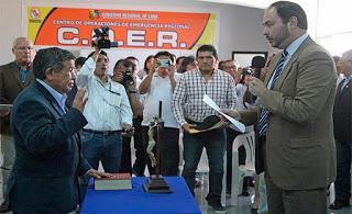 UNIDAD FRENTE A RIESGO DE DESASTRES… es el llamado que formula el Gobernador Regional de Lima
