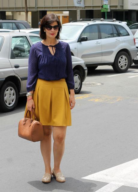 Mis Looks - La falda mostaza