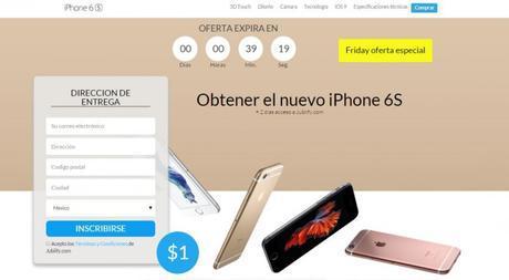 """En un nuevo engaño, se ofrece dispositivos Apple (iPhone 6) por sólo 4 euros (ojo y aléjate de este tipo de """"promociones"""")"""