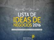Lista Ideas Negocios 2016