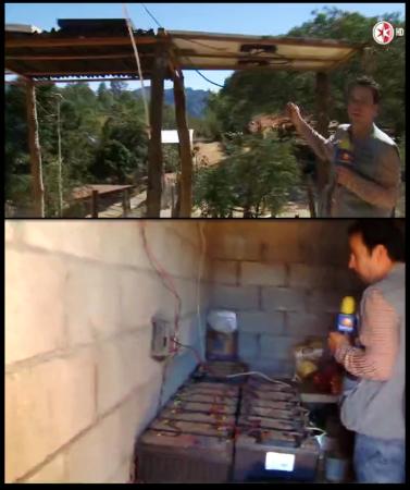 Celdas solares en el refugio del Chapo Guzmán en la sierra