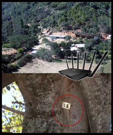 El refugio del Chapo Guzmán en la sierra tenía WiFi