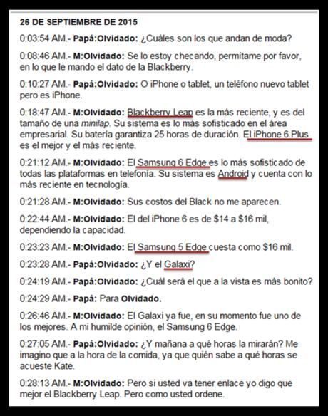 Mensajes de BBM entre el chapo Guzman y su abogado