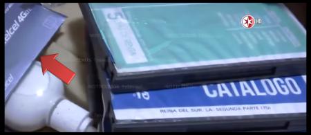 Sobre con tarjeta SIM de Telcel hallado en la casa de seguridad del chapo Guzmán