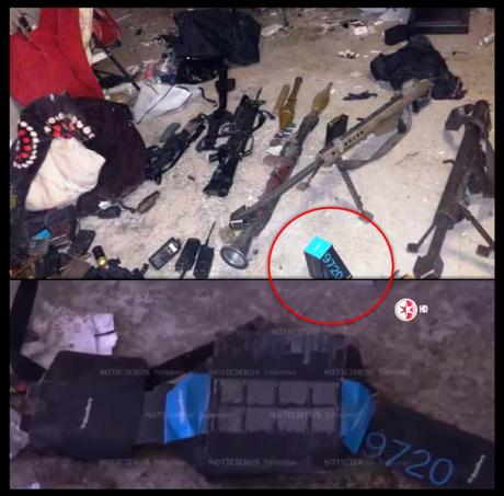 Caja de Blackberry 9720 encontrada en la casa de seguridad del chapo Guzmán