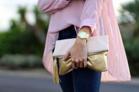 Pleated Pink Blouse