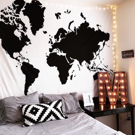 Curiosidades de tumblr decoraci n de habitaciones parte for Bedroom ideas tumblr white