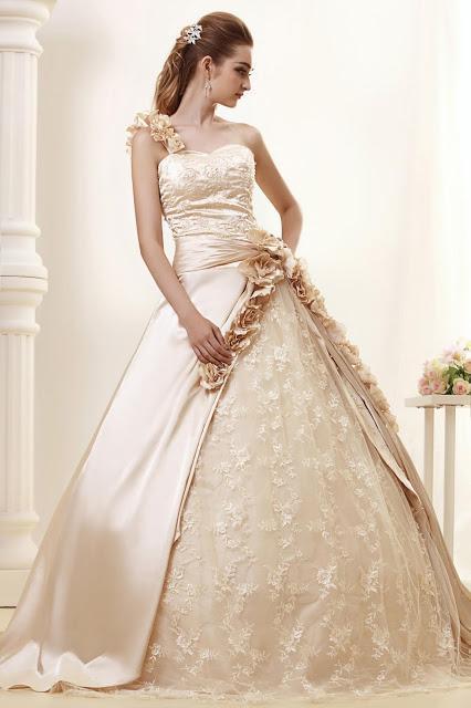 vestidos de novia color champagne - paperblog