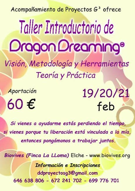 "Taller Introductorio Dragon Dreaming  Biovives ""Elche"""