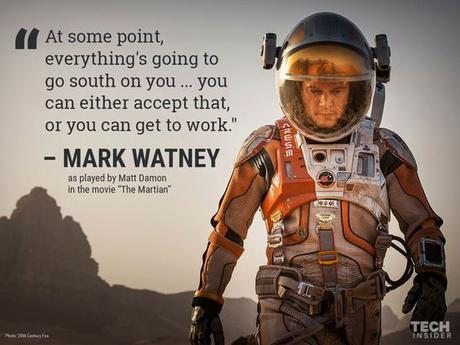 The Martian movie quote. I surprisingly liked this movie!: