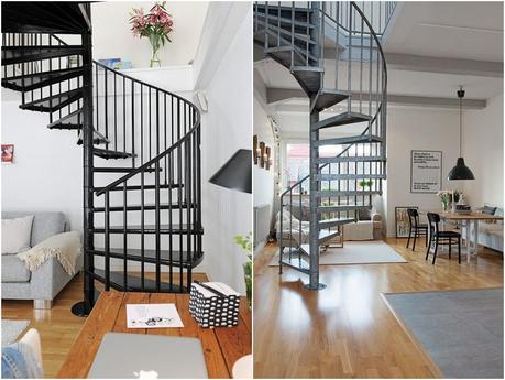 Elige la mejor escalera de caracol para interiores paperblog - La escalera de caracol ...