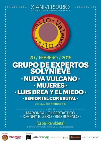 cartel X aniversario vinilo valencia