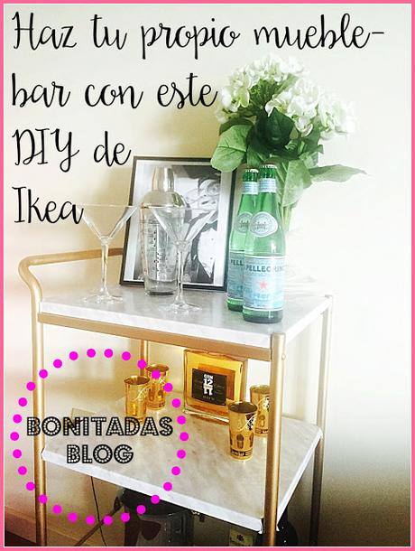 Diy mueble bar de ikea paperblog for Mueble bar barato