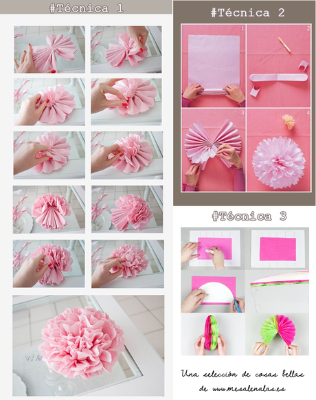 C mo hacer un pompon de papel de seda y hacerlo bien - Como se hacen rosas de papel ...
