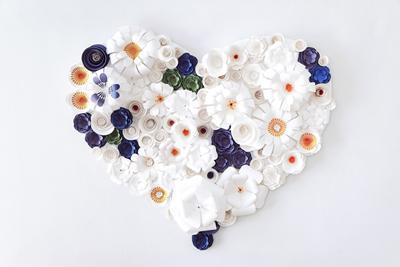 San Valentín en blanco y azul.