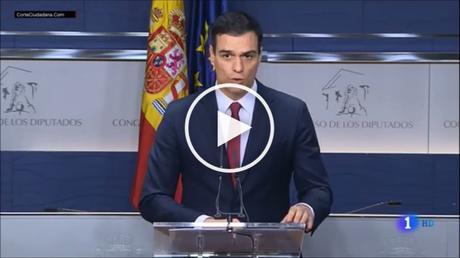 Padro Sánchez gobierno en España