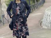 Lady dress leather jacket
