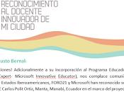 """""""Reconocimiento Docente innovador Ciudad Premio Microsoft Foro21""""Gracias Dios"""