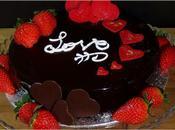 Tarta dulce leche corazón fresa. Especial Valentín