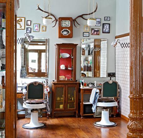 Peluqueria al estilo vintage paperblog - Interiores de peluquerias ...
