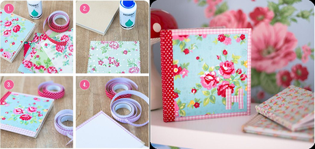 Diy decorar tapas de agendas o cuadernos paperblog - Como decorar una agenda ...