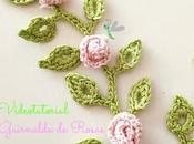 Guirnalda rosas crochet