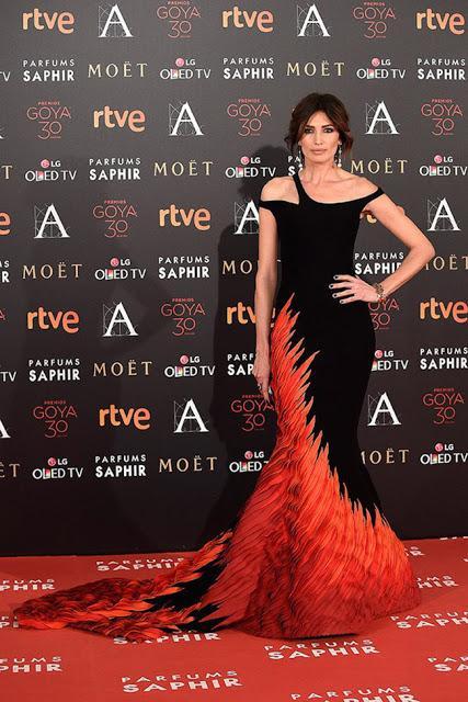 Nieves Álvarez en los Goya 2016 - Foto: www.trendencias.com