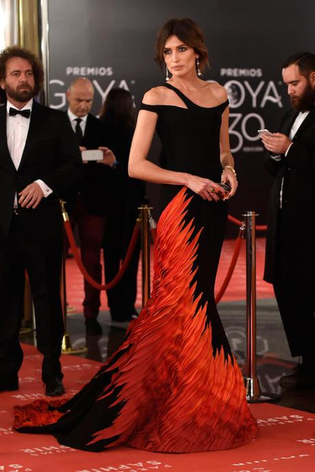 Alfombra roja Premios Goya 2016: Nieves Álvarez