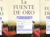 """Resultado sorteo exprés cinco ejemplares novela fuente Oro"""" Juan Pedro Cosano, para lectura conjunta"""
