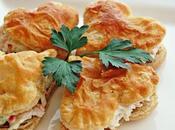 Idea aperitivo para menú valentín. corazón hojaldre cangrejo