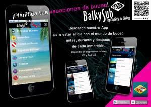 Aplicación móvil Balkysub Dive