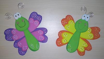 Alegres mariposas paperblog - Decorar paredes infantiles con goma eva ...